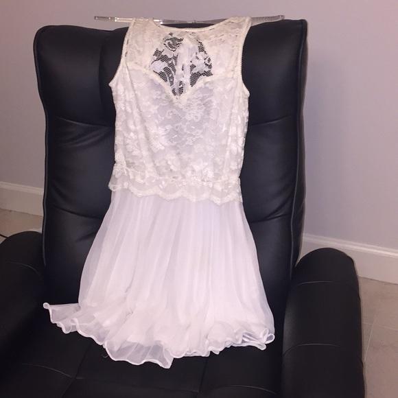 01b40a178ab Double Zero Dresses   Short Lace White Dress With Open Back   Poshmark
